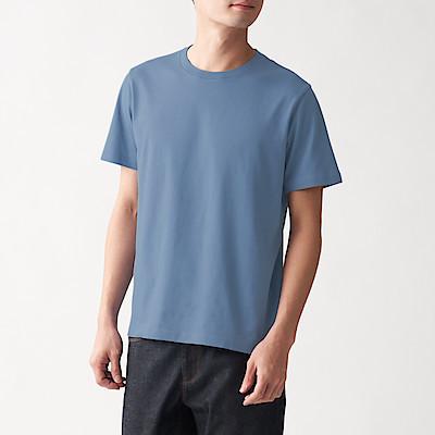 인도 면 저지 · 크루넥 반소매 티셔츠