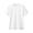 WHITE(인도 면 저지 · 크루넥 반소매 티셔츠)