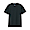 BLACK(인도 면 저지 · V넥 반소매 티셔츠)