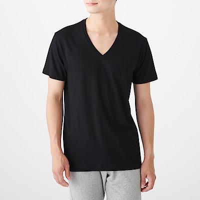 사이드 심리스·2장 세트 · V넥 반소매 티셔츠