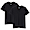 BLACK(사이드 심리스·2장 세트 · V넥 반소매 티셔츠)