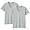 GRAY(사이드 심리스·2장 세트 · V넥 반소매 티셔츠)