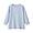 SMOKY BLUE*STRIPE(오가닉 리넨 워싱 · 7부소매 블라우스)