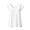 WHITE(실크 혼방 · 컵인 프렌치슬리브 티셔츠)