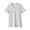 LIGHT SILVER GRAY(인도 면 저지 · V넥 반소매 티셔츠)