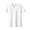 WHITE(인도 면 저지 · V넥 반소매 티셔츠)