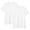 WHITE(사이드 심리스·2장 세트 · 저지 크루넥 반소매티셔츠)