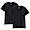 BLACK(사이드 심리스·2장 세트 · 저지 크루넥 반소매티셔츠)