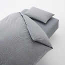이불 커버 세트 · D · 네이비 체크 · 침대용 · 워싱면
