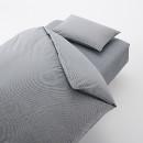 이불 커버 세트 · Q · 네이비 체크 · 침대용 · 워싱면