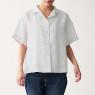 오가닉 리넨 워싱 · 반소매 오픈칼라 셔츠 상품이미지