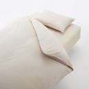 이불 커버 세트 · Q · 베이지 체크 · 침대용·워싱면