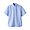 SAXE BLUE(면 워싱 옥스포드 · 버튼다운 반소매 셔츠)