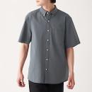 신강면 서커 · 버튼다운 반소매 셔츠