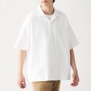 면 옥스포드 · 오픈 칼라 반소매 셔츠