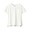 WHITE(슬러브 저지 · V넥 반소매 티셔츠)