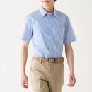 신강면 스트레치 형태안정 · 스트라이프 반소매 셔츠