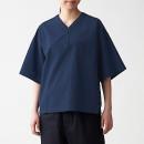 면 포플린 · 풀오버 반소매 셔츠