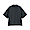 BLACK(면 혼방 스트레치 · 반소매 스탠드칼라 셔츠)