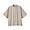PALE BROWN(면 혼방 스트레치 · 반소매 스탠드칼라 셔츠)