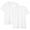 WHITE(사이드 심리스·2장 세트 · V넥 반소매 티셔츠)