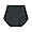 BLACK(봉제선이 없는 · 면혼방 미디 쇼츠)