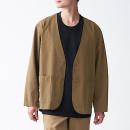 코튼 리오셀 · 노 칼라 셔츠 재킷