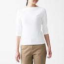 스트레치 후라이스 · 보트넥 7부소매 티셔츠