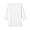 WHITE(스트레치 후라이스 · 보트넥 7부소매 티셔츠)