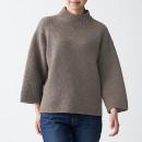 야크 캐멀 혼방 · 모크넥 스웨터