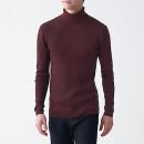 목이 편한·리브 · 워셔블 터틀넥 스웨터