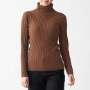 목이 편한·와이드 리브 · 워셔블 터틀넥 스웨터