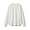 WHITE(인도면 혼방 와플편직 · 긴소매 티셔츠)