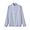 SMOKY BLUE*STRIPE(인도면 이중가제 · 스탠드 칼라 셔츠)