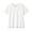 WHITE(슬러브 저지 · V넥 티셔츠)