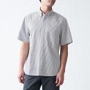 워싱 서커 편직 · 버튼다운 반소매 셔츠