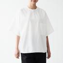 강연 워싱 포플린 · 풀오버 반소매 셔츠