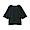 BLACK(슬러브 저지 · 5부소매 티셔츠)