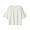 WHITE(슬러브 저지 · 5부소매 티셔츠)