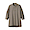 MOCHA BROWN(워싱 포플린 · 매듭 단추 롱 셔츠)