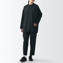 콤비 소재 · 스탠드칼라 미들 셔츠