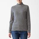 스트레치 후라이스 · 하이넥 긴소매 티셔츠